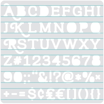 We R Memory Keepers HEATWAVE SERIF STENCIL 662662