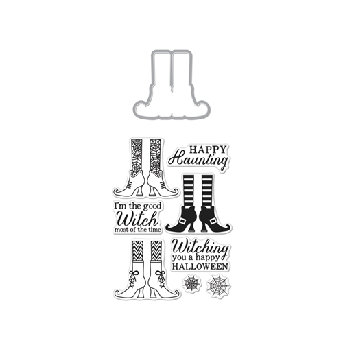 Hero Arts WITCH FEET Coordinating Clear Stamp And Die Set DC161 Preview Image