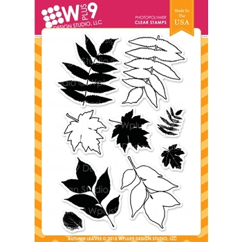 Wplus9 AUTUMN LEAVES Clear Stamps CLWP9AL