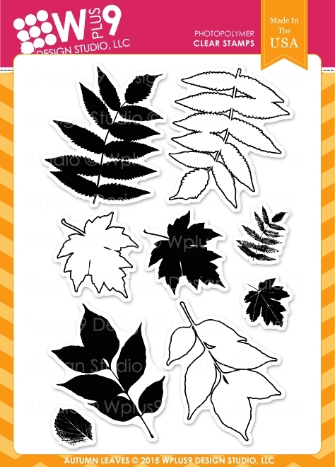 Wplus9 AUTUMN LEAVES Clear Stamps CLWP9AL zoom image