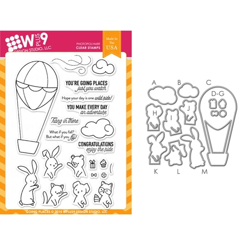 Wplus9 GOING PLACES SET Clear Stamp And Die Combo SETWPLUS255 Preview Image