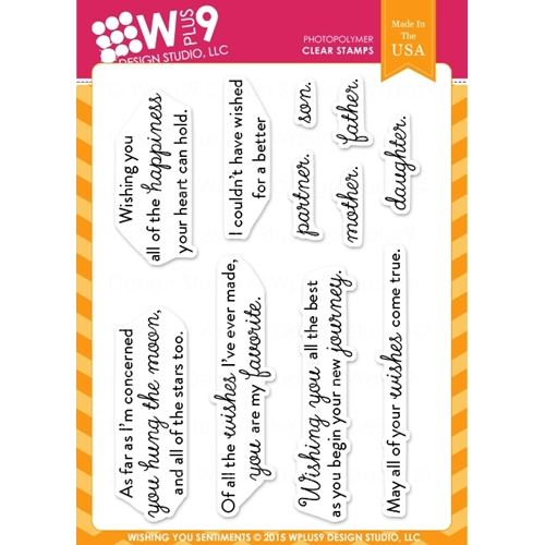 Wplus9 WISHING YOU SENTIMENTS Clear Stamps CLWP9WYS Preview Image