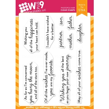 Wplus9 WISHING YOU SENTIMENTS Clear Stamps CLWP9WYS