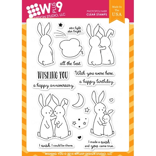Wplus9 WISHING YOU Clear Stamps CLWP9WY Preview Image