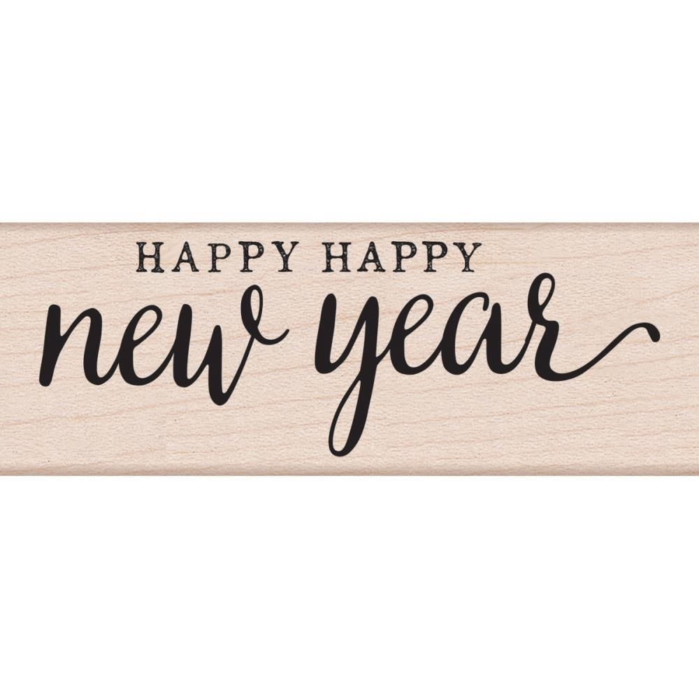 Hero Arts Rubber Stamp HAPPY HAPPY NEW YEAR G6117 zoom image