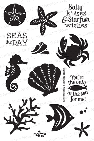 Newton's Nook Designs TRANQUIL TIDES Clear Stamp Set 20150801 zoom image
