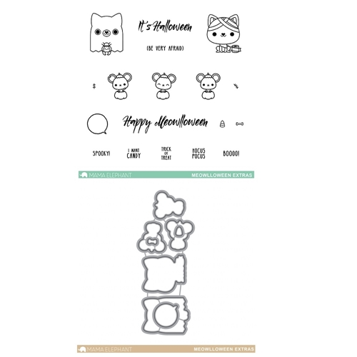 Mama Elephant Clear Stamp and Die MEPT161 Meowlloween Extras SET* Preview Image