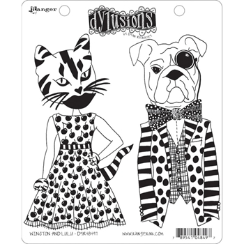 Dyan Reaveley WINSTON AND LULU Cling Stamp Set Dylusions DYR48497