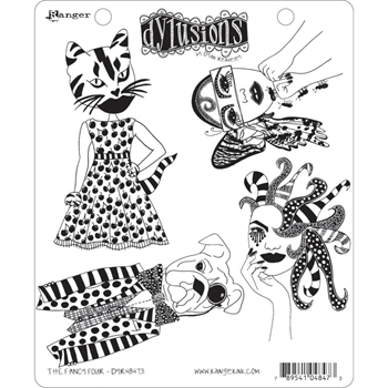 Dyan Reaveley THE FANCY FOUR Cling Stamp Set Dylusions DYR48473