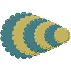 S4-125 Spellbinders CLASSIC SCALLOPED CIRCLE SMALL Dies