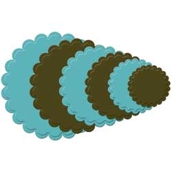 S4-124 Spellbinders SCALLOPED CIRCLE LARGE Dies Preview Image