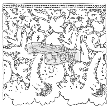 The Crafters Workshop MINI LACE 6 x 6 Template TCW557S