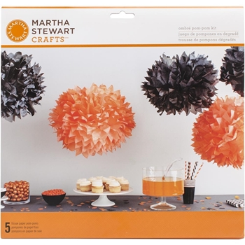 Martha Stewart SPOOKY NIGHT OMBRE POM POM KIT 48-20415*