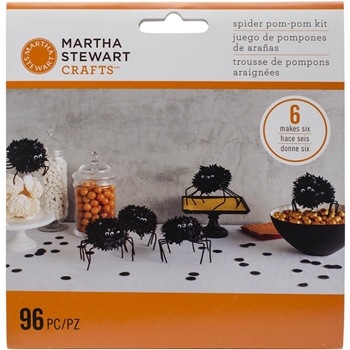 Martha Stewart SPOOKY NIGHT SPIDER POM POM KIT 48-20414