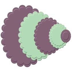 S4-113 Spellbinders CLASSIC SCALLOPED OVAL SMALL Dies*