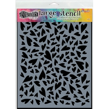 Dyan Reaveley Stencil 9 x 12 HEARTS LARGE Dylusions DYS47032