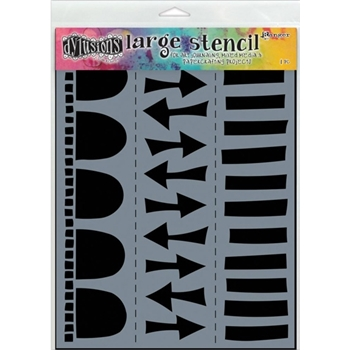 Dyan Reaveley Stencil 9 x 12 ARROW BORDER LARGE Dylusions DYS47155