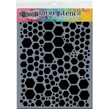 Dyan Reaveley Stencil 9 x 12 HONEYCOMB LARGE Dylusions DYS47056