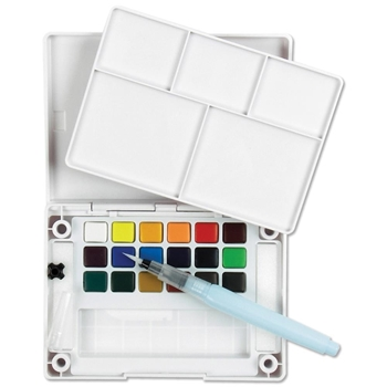Sakura KOI WATERCOLORS SKETCH BOX 18 Colors With Waterbrush XNCW18N*