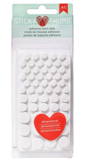 Sticky Thumb ADHESIVE FOAM DOTS American Crafts 340272 zoom image