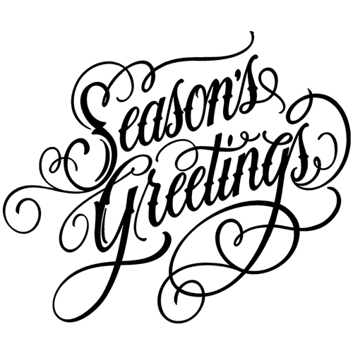 Tim Holtz Rubber Stamp  SCRIPT SEASON'S GREETINGS Stampers Anonymous P1-2692 Preview Image