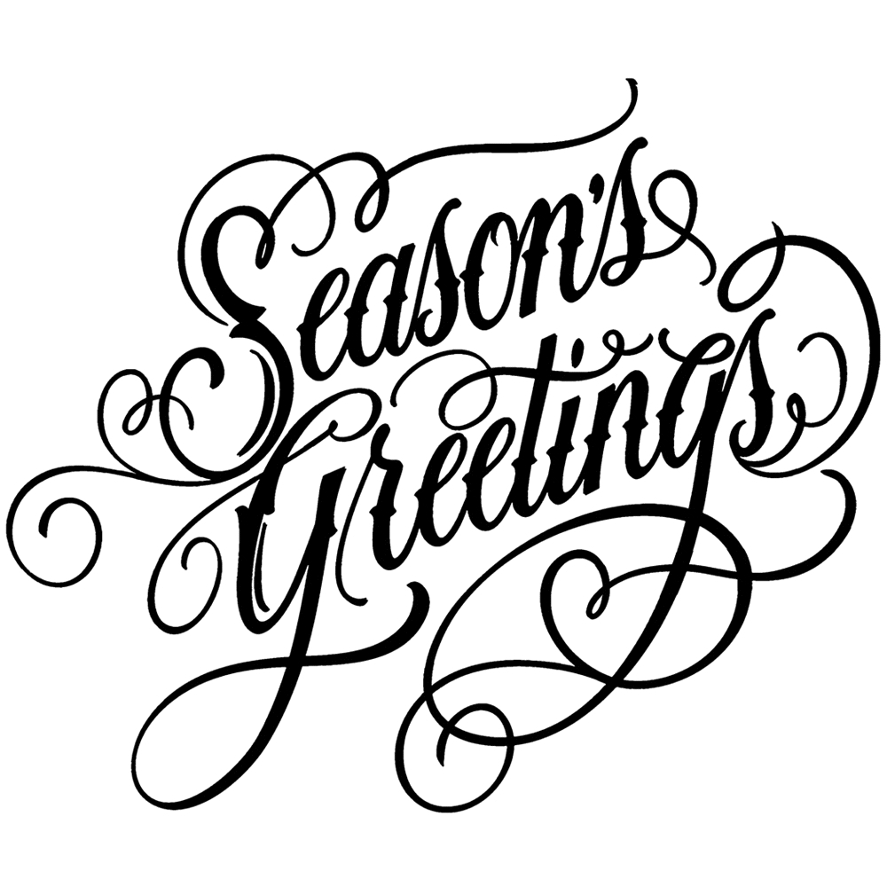 Tim Holtz Rubber Stamp  SCRIPT SEASON'S GREETINGS Stampers Anonymous P1-2692 zoom image