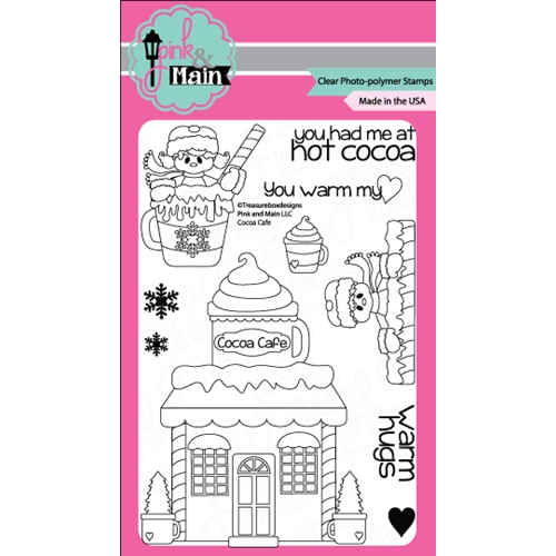 Pink and Main COCO CAFE Clear Stamp Set 021477 Preview Image