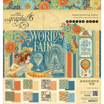Graphic 45 WORLD'S FAIR 8 x 8 Paper Pad 4501176