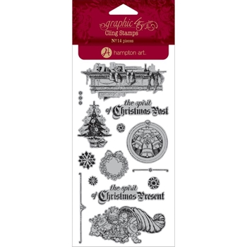 Graphic 45 A CHRISTMAS CAROL 2 Cling Stamps IC0342*