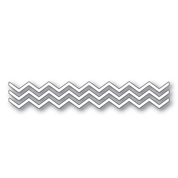 Simon Says Stamp SMALL CHEVRON STRIPES Wafer Dies s283