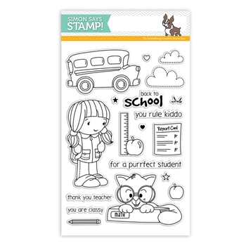 Simon Says Clear Stamps BACK TO SCHOOL sss101554 *