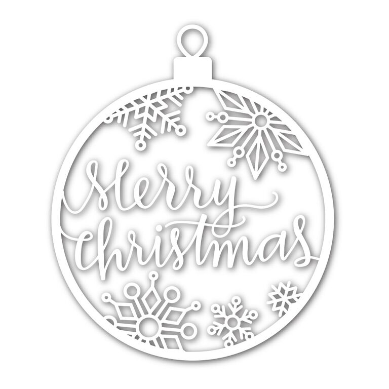 Simon Says Stamp MERRY CHRISTMAS ORNAMENT Wafer Dies sssd111497 zoom image