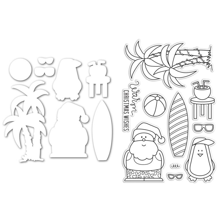 Simon Says Stamps and Dies Set SANTA AT THE BEACH SetSB222 zoom image