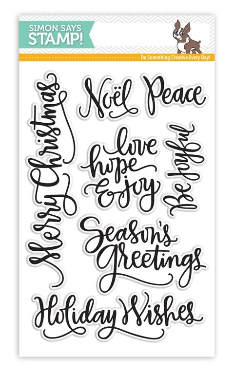 Simon Says Clear Stamps BIG SCRIPTY GREETINGS HOLIDAY sss101548 zoom image