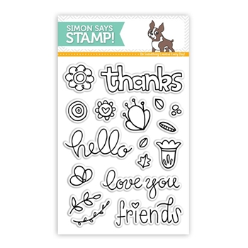 Simon Says Clear Stamps HELLO FRIEND sss101557 *