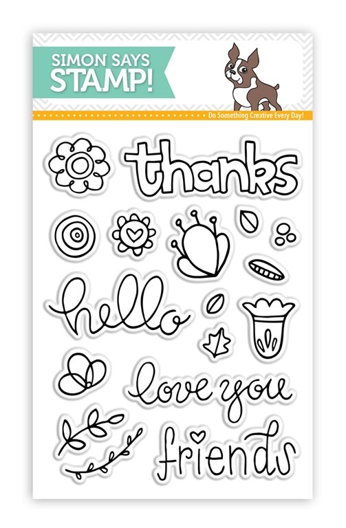 Simon Says Clear Stamps HELLO FRIEND sss101557 zoom image