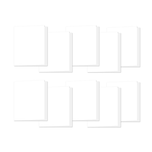 Simon Says Stamp White A2 Side Fold Scored Cards 120# 10 Pack a2side10 Preview Image
