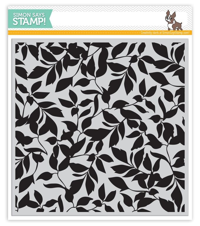 Simon Says Cling Stamp LEAVES BACKGROUND sss101529 zoom image