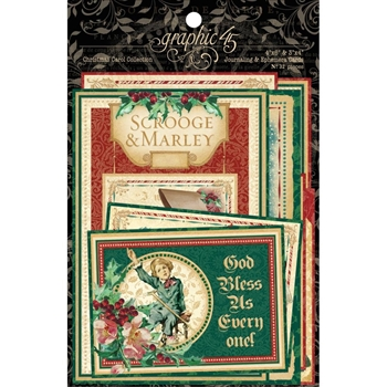 Graphic 45 A CHRISTMAS CAROL Journaling And Ephemera 4501200