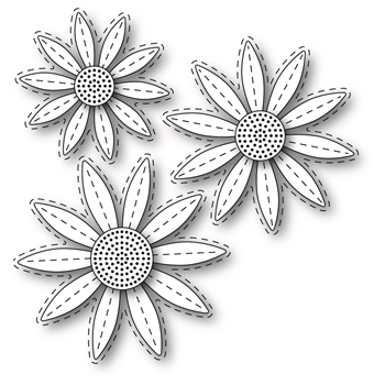 Simon Says Stamp STITCHED DAISIES Wafer Dies s318