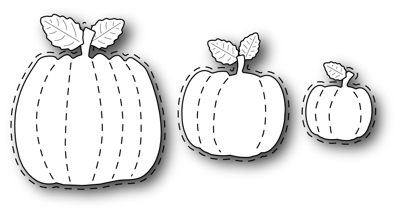 Simon Says Stamp STITCHED PUMPKINS Wafer Dies s306 Preview Image