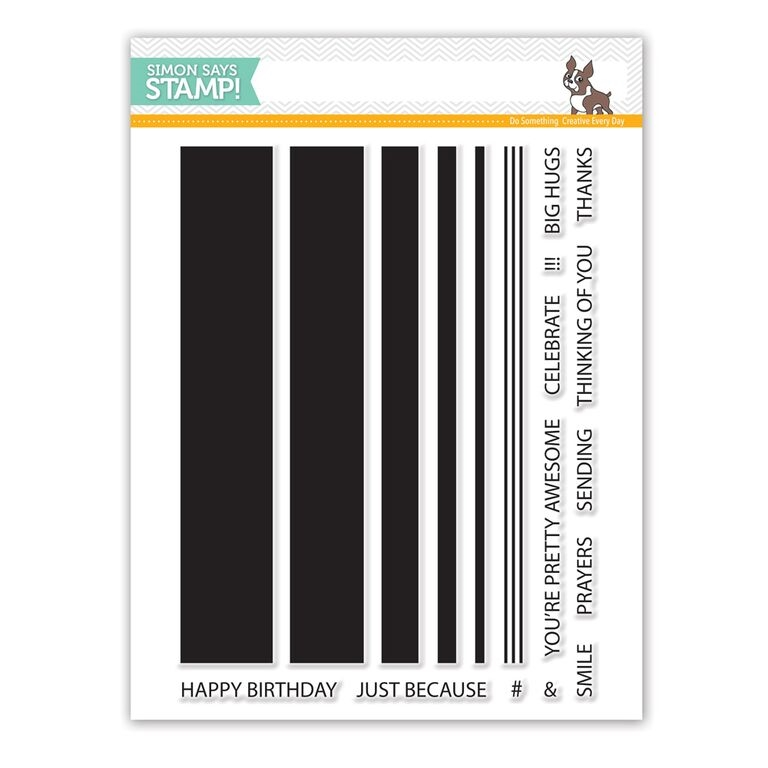 Simon Says Clear Stamps JUMBO STRIPES sss101553 zoom image