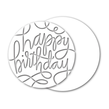 Simon Says Stamp HAPPY BIRTHDAY CIRCLE Wafer Dies sssd111481