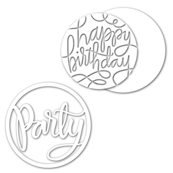Simon Says Stamp PARTY CIRCLE Wafer Dies Set SetPC224