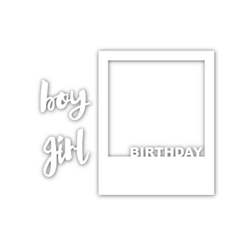 Simon Says Stamp BIRTHDAY FRAME Wafer Dies sssd111485