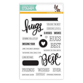 Simon Says Clear Stamps BEST HUGS sss101552
