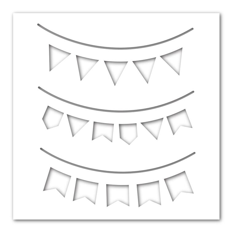 Simon Says Stamp Stencil PARTY BANNERS SSST121378 zoom image