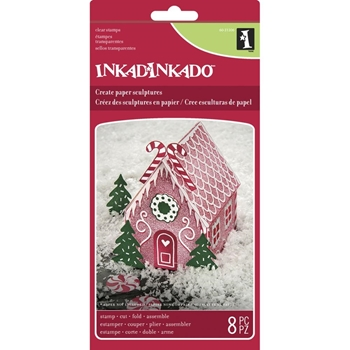 Inkadinkado Paper Sculpture GINGERBREAD HOUSE 60-31306*
