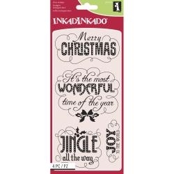 Inkadinkado Clear Stamp MARQUEE CHRISTMAS 60-31300
