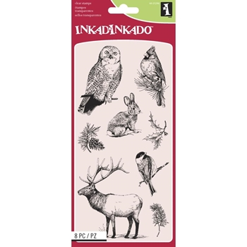 Inkadinkado Clear Stamp WINTER WILDLIFE 60-31296